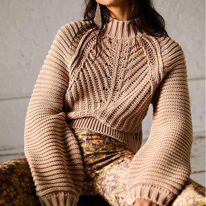 Sweet Heart Sweater by Free People in Sand Castle